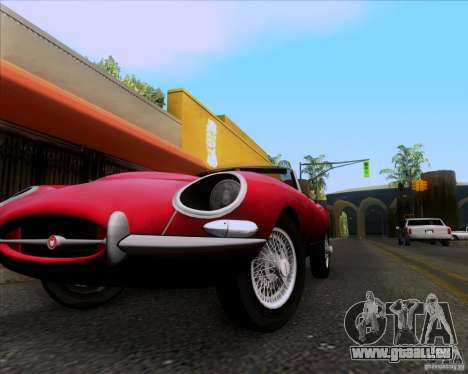 Jaguar E-Type 1966 pour GTA San Andreas sur la vue arrière gauche