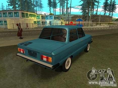 ZAZ 968 m pour GTA San Andreas sur la vue arrière gauche