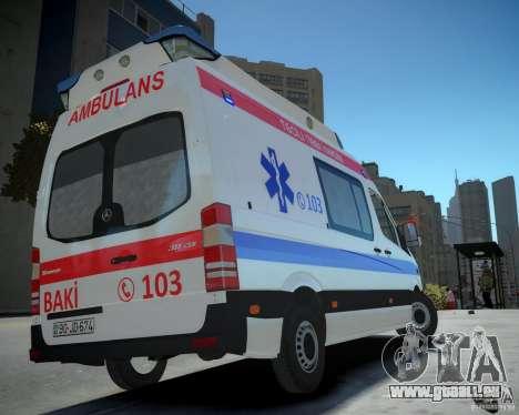 Mercedes-Benz Sprinter Azerbaijan Ambulance v0.2 für GTA 4 linke Ansicht