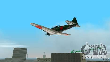 Zero Fighter Plane für GTA Vice City linke Ansicht