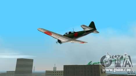 Zero Fighter Plane pour une vue GTA Vice City de la gauche