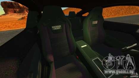 Ford Mustang Boss 302 2013 für GTA 4 Innenansicht