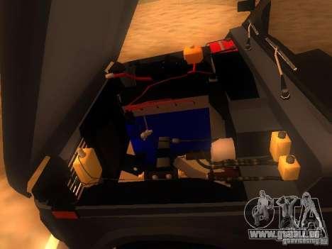 Vaz 2131 NIVA pour GTA San Andreas vue intérieure