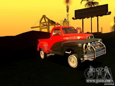 Ford Pick Up Custom 1951 LowRider für GTA San Andreas Innenansicht