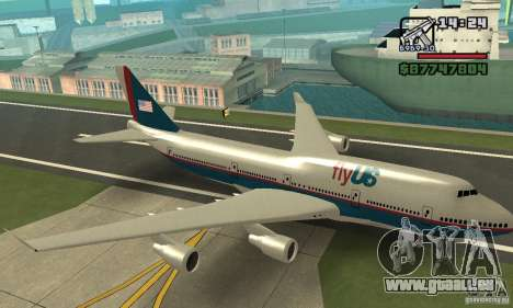 Avion de GTA 4 Boeing 747 pour GTA San Andreas vue arrière