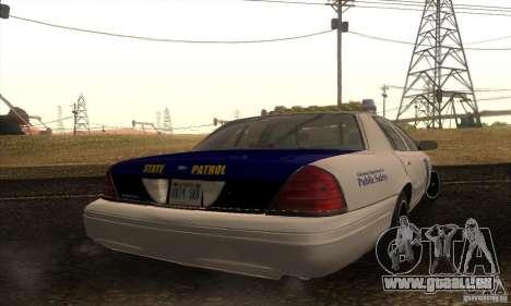 Ford Crown Alabama Police pour GTA San Andreas laissé vue
