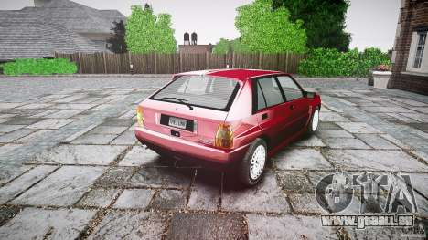 Lancia Delta HF Integrale Dealers Collection pour GTA 4 est une vue de l'intérieur