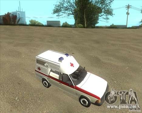 2901 AZLK ambulance pour GTA San Andreas laissé vue