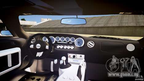 Ford GT1000 2006 Hennessey [EPM] STREET BURNING pour GTA 4 vue de dessus