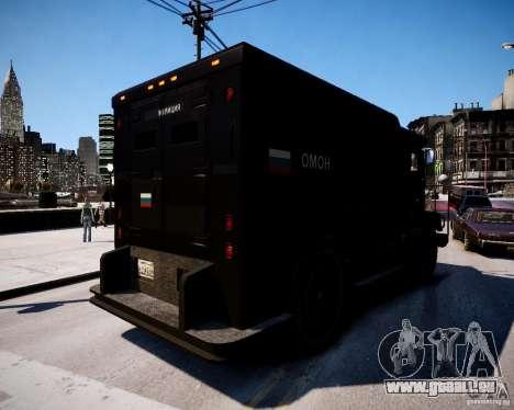 Russian Enforcer für GTA 4 hinten links Ansicht