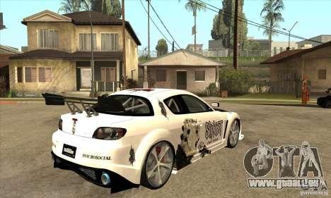 Mazda RX8 Slipknot Style für GTA San Andreas rechten Ansicht