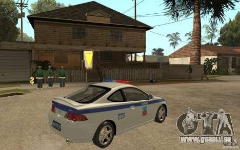 Acura RSX-S DPS ville de Barnaoul pour GTA San Andreas vue de droite