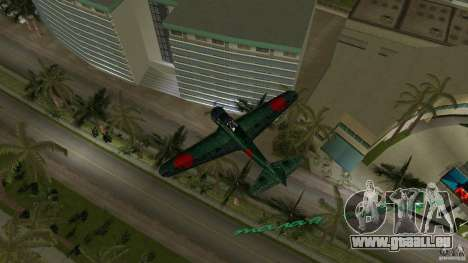 Zero Fighter Plane für GTA Vice City rechten Ansicht