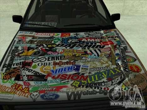 Volkswagen Golf 2 Rat Style pour GTA San Andreas laissé vue