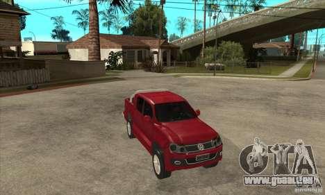 Volkswagen Amarok 2010 pour GTA San Andreas vue arrière
