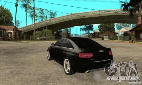 Audi RS6 2010 pour GTA San Andreas sur la vue arrière gauche