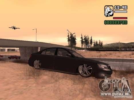 Hyundai Sonata Edit pour GTA San Andreas laissé vue