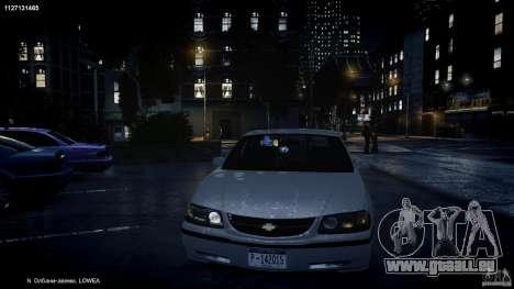 Chevrolet Impala Unmarked Police 2003 v1.0 [ELS] für GTA 4-Motor