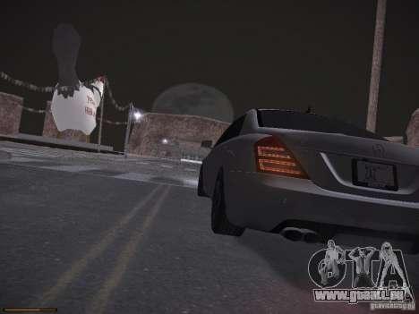 Mercedes Benz S65 AMG 2012 pour GTA San Andreas vue de dessus
