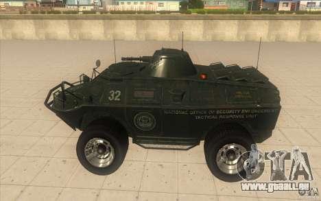 APCS von GTA 4 TBOGT Original mit Textur für GTA San Andreas linke Ansicht