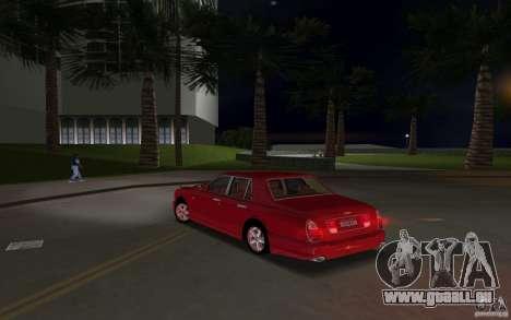Bentley Arnage T 2005 pour une vue GTA Vice City de l'intérieur
