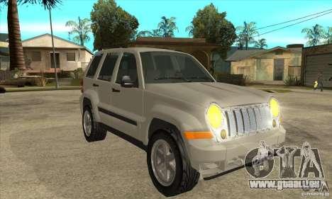Jeep Liberty 2007 Final für GTA San Andreas Rückansicht