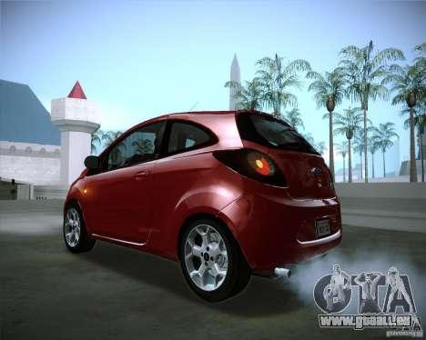 Ford Ka 2011 für GTA San Andreas Innenansicht