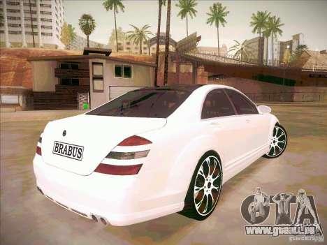 Mercedes-Benz S 500 Brabus Tuning für GTA San Andreas Seitenansicht