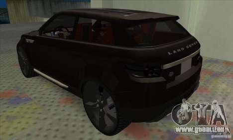 Land Rover LRX für GTA San Andreas rechten Ansicht