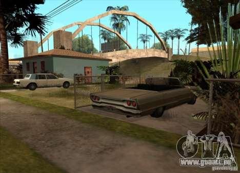 Geparkte Fahrzeuge in der Grove Street für GTA San Andreas dritten Screenshot