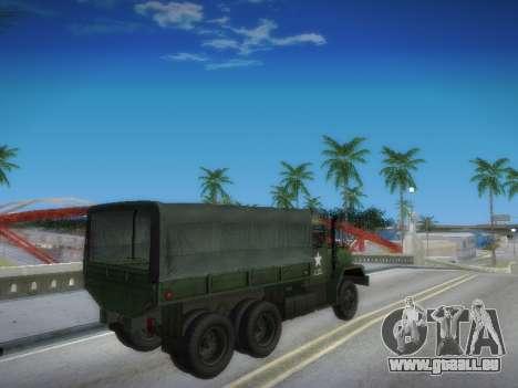 AM General M35A2 pour GTA San Andreas vue intérieure