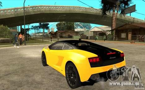 Lamborghini Gallardo LP560 Bicolore für GTA San Andreas zurück linke Ansicht
