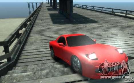 Mazda RX-7 v1 pour GTA 4 Vue arrière
