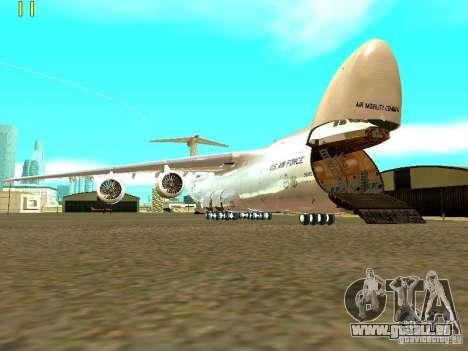 Lockheed C-5M Galaxy für GTA San Andreas zurück linke Ansicht