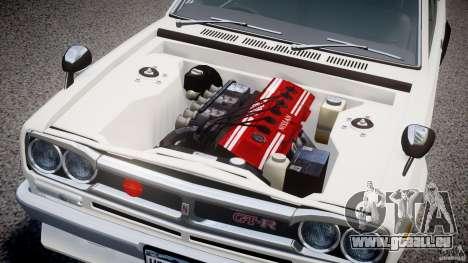 Nissan Skyline 2000 GT-R pour GTA 4 est une vue de l'intérieur