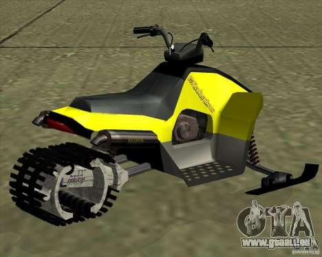 Snowmobile pour GTA San Andreas laissé vue