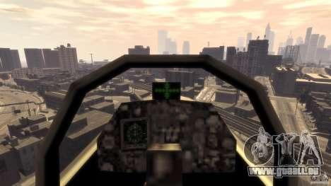 Liberty City Air Force Jet (avec équipement) pour GTA 4 Vue arrière