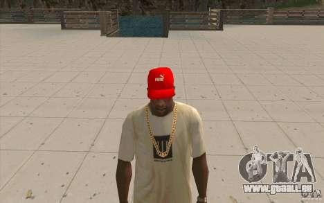 PUMA Cap hellrot für GTA San Andreas zweiten Screenshot