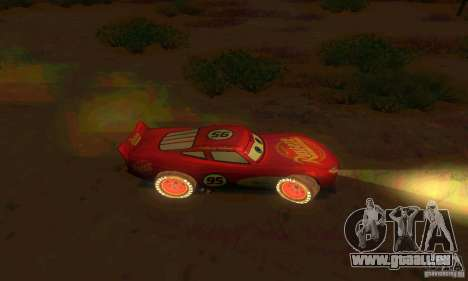 MCQUEEN from Cars pour GTA San Andreas vue intérieure
