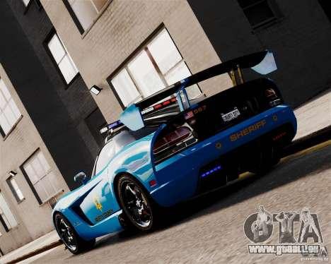 Dodge Viper SRT-10 ACR 2009 Police ELS pour GTA 4 Vue arrière de la gauche