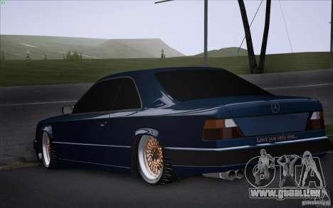 Mercedes-Benz W124 Low Gangster pour GTA San Andreas laissé vue