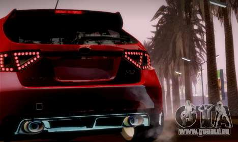 Subaru Impreza WRX Camber pour GTA San Andreas vue de côté