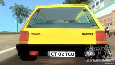 Daewoo Tico pour une vue GTA Vice City de la gauche
