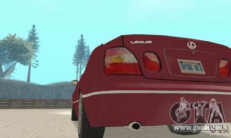 Lexus GS430 1999 für GTA San Andreas Rückansicht