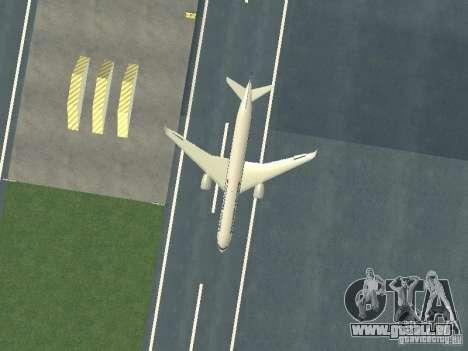 Airbus A350-900 Singapore Airlines pour GTA San Andreas vue intérieure