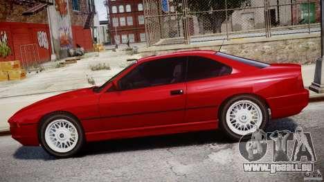 BMW 850i E31 1989-1994 für GTA 4 Unteransicht