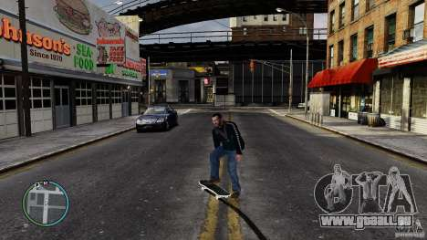 Skateboard # 2 pour GTA 4 est une vue de l'intérieur