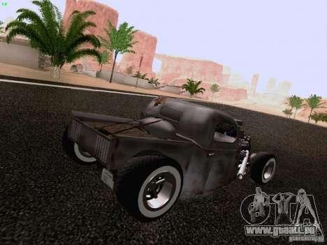 Ford Pickup Ratrod 1936 pour GTA San Andreas laissé vue