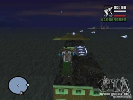Night moto track V.2 pour GTA San Andreas troisième écran