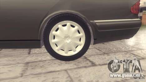 Mercedes-Benz E320 Funeral Hearse für GTA San Andreas Rückansicht